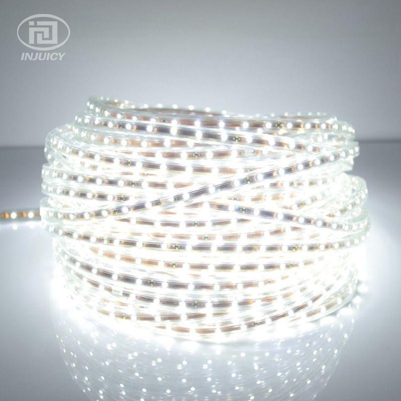 Hohe Qualität 3528 FÜHRTE Streifenlicht Band Band Warmweiß/Pure White Wasserdicht Flexible SMD Led Streifen Lampe 60 leds/M AC 220-240 V