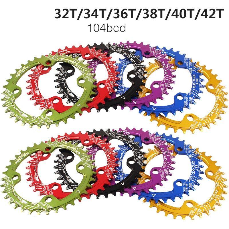 Plateau de vélo 104 BCD 32/34/36/38 T/40 T/42 T circulaire vtt vélo pédalier plaque vélo manivelle