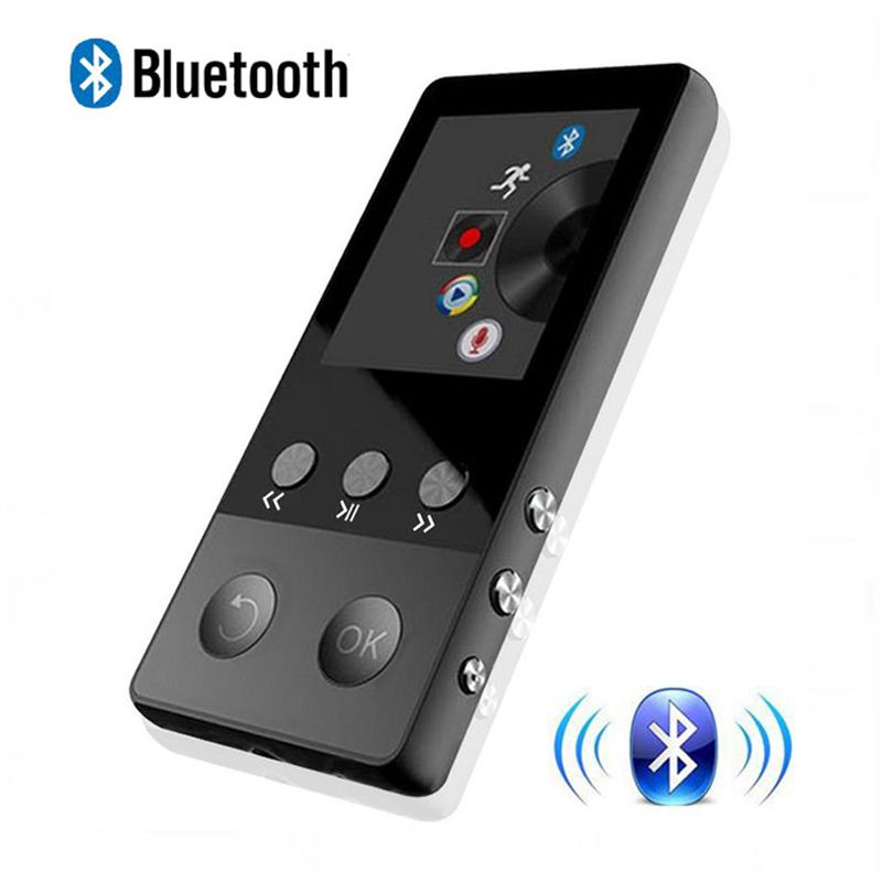 2018 New Metal Bluetooth MP4 Player 8GB 1.8 Inch Screen Play 50 hours with FM Radio E-book Audio Video Player Portable Walkman