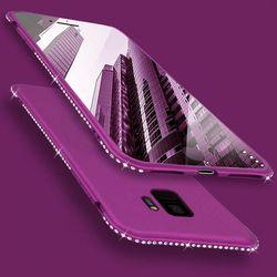 Diamant Housse Etui Silicone Souple pour Samsung Galaxy S8 S9 Plus S7 Bord A3 A5 A7 J3 J5 J7 2016 2017 A6 A8 Plus 2018 Téléphone cas