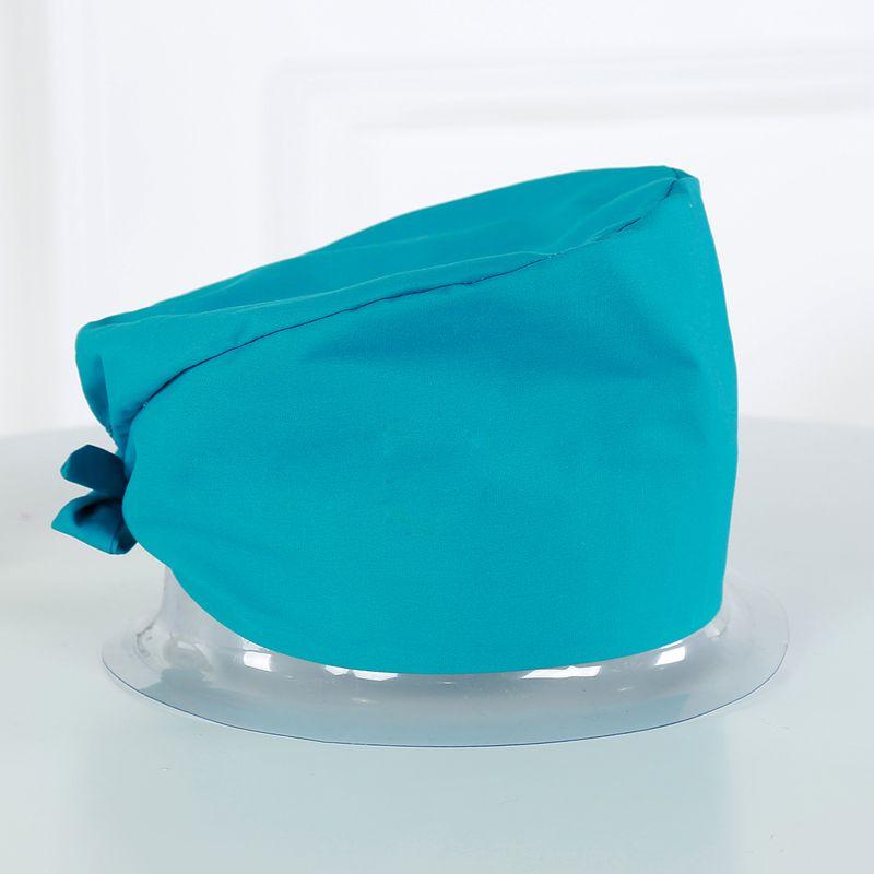2017 puro algodón casquillo sólido 8 colores doctor tapas para las mujeres y los hombres sombrero trabajo Hospital quirófano sombrero sombreros al por mayor