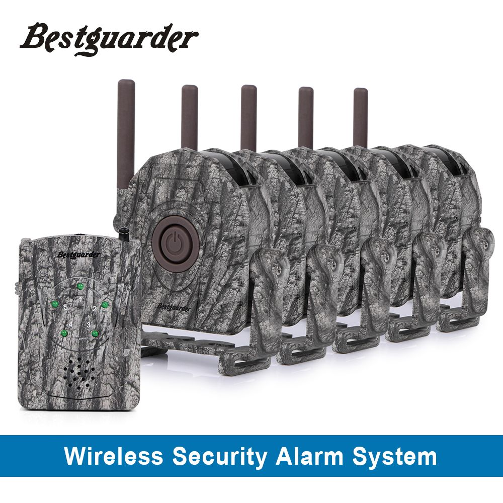 Wireless schnurlose jagd sicherheit alarmanlage mit drei benachrichtigung für jäger, um informiert irgendwelcher tiere naht bis zu 300 mt