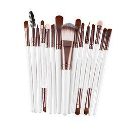 15 Buah/Set Kuas Makeup Set Kit Bulu Mata Bibir Foundation Bubuk Eye Shadow Alis Eyeliner Make Up Kosmetik Alat Kecantikan