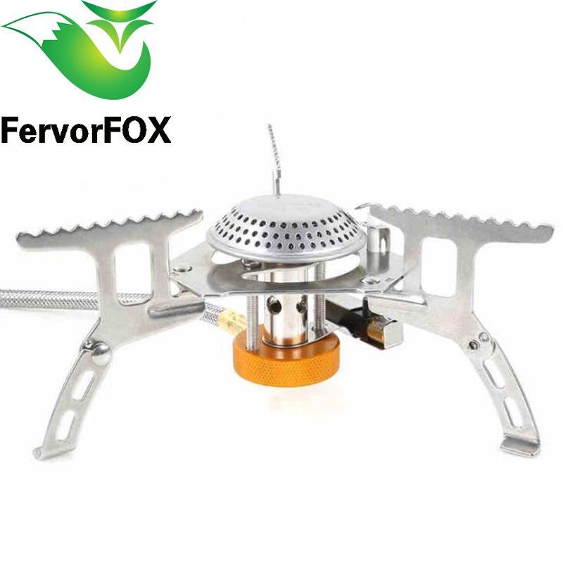 FervorFOX cuisinière à gaz extérieure pliante Camping poêles Portable cuisinière à gaz électronique avec boîte Portable pliable Split poêles 3500 W