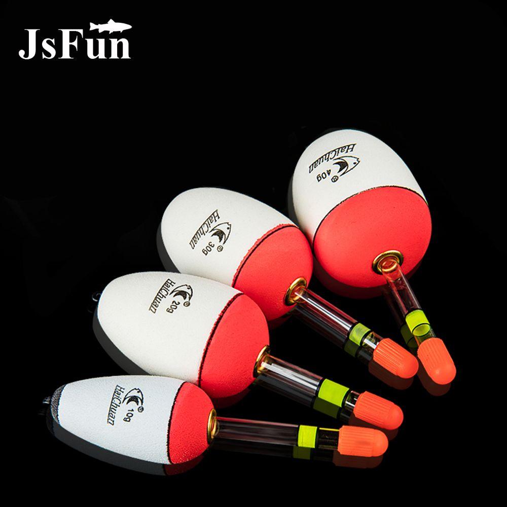 JSFUN 30PCS EVA Fishing Float 10-60g Luminous Light Sticks Hard Tail Belly Floats Night Fishing Tackles Sea Fishing YF01