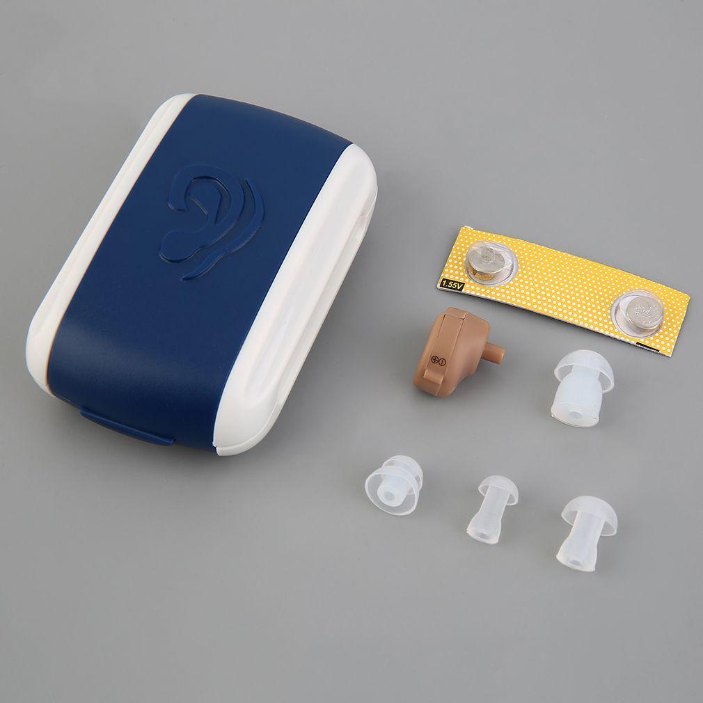 Haute Qualité Nouvelle Aide Auditive Portable Petit Mini Amplificateur de Son Personnel Dans L'oreille Tone Volume Réglable Audience Sida Soins