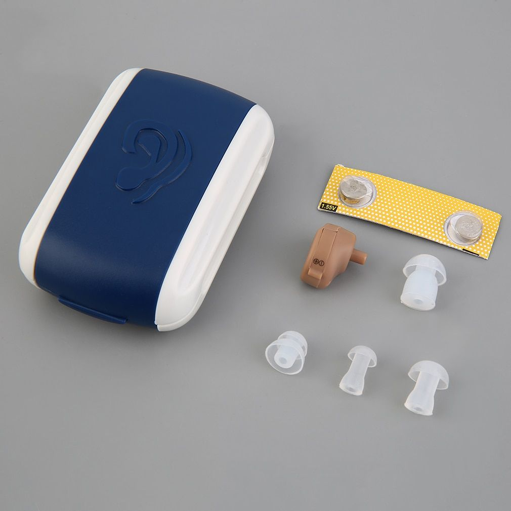 High Quality New Hearing Aid Portable Small Mini Personal Sound Amplifier In the Ear Tone Volume Adjustable Hearing Aids Care