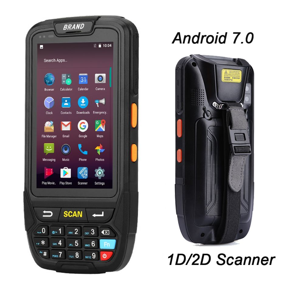 Android 7.0 PDA POS Handheld terminal Support GPS GPRS Wifi Bluetooth 4G Mobile 1D 2D QR Barcode Reader For Tablet Pc Camera