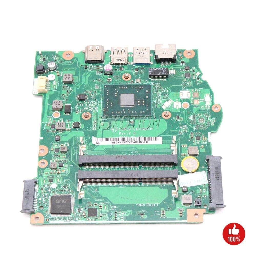 NOKOTION C5W1R LA-D661P NBGKY11002 NB.GKY11.002 Main board For acer aspire ES1-523 Laptop motherboard