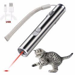 القط المطارد اللعب مؤشر ليزر 2 في 1 متعددة الوظائف مضحك القط المطارد اللعب التفاعلية مصباح ليد التدريب ممارسة التدريب أدوات