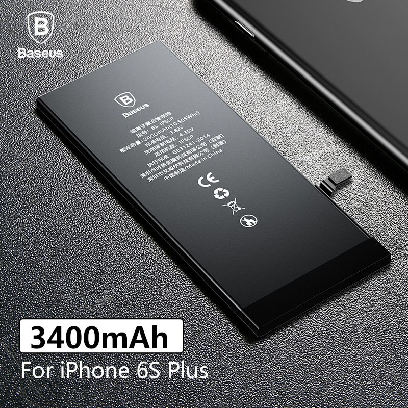 Baseus 3400mAh High Capacity Original Phone Battery For iPhone 6S Plus Replacement Batteries For iPhone 6S Plus with Free Tools