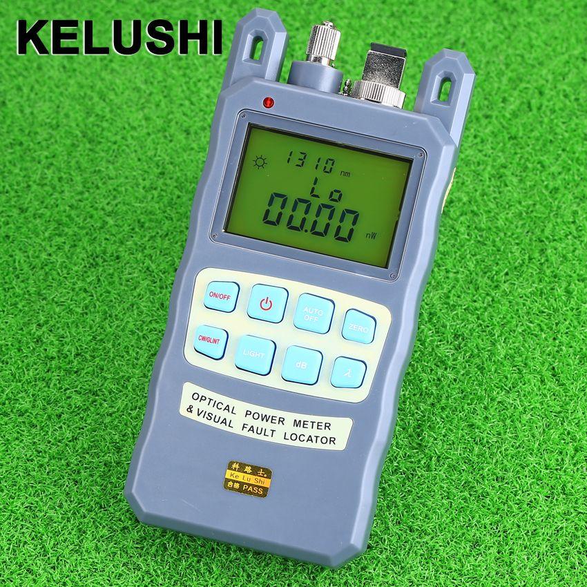 KELUSHI All-in-one Câble à Fiber Optique Testeur De Fiber Optique Power Meter-70 à + 10dBm avec Fonction de 10 mw Localisateur Visuel de défauts