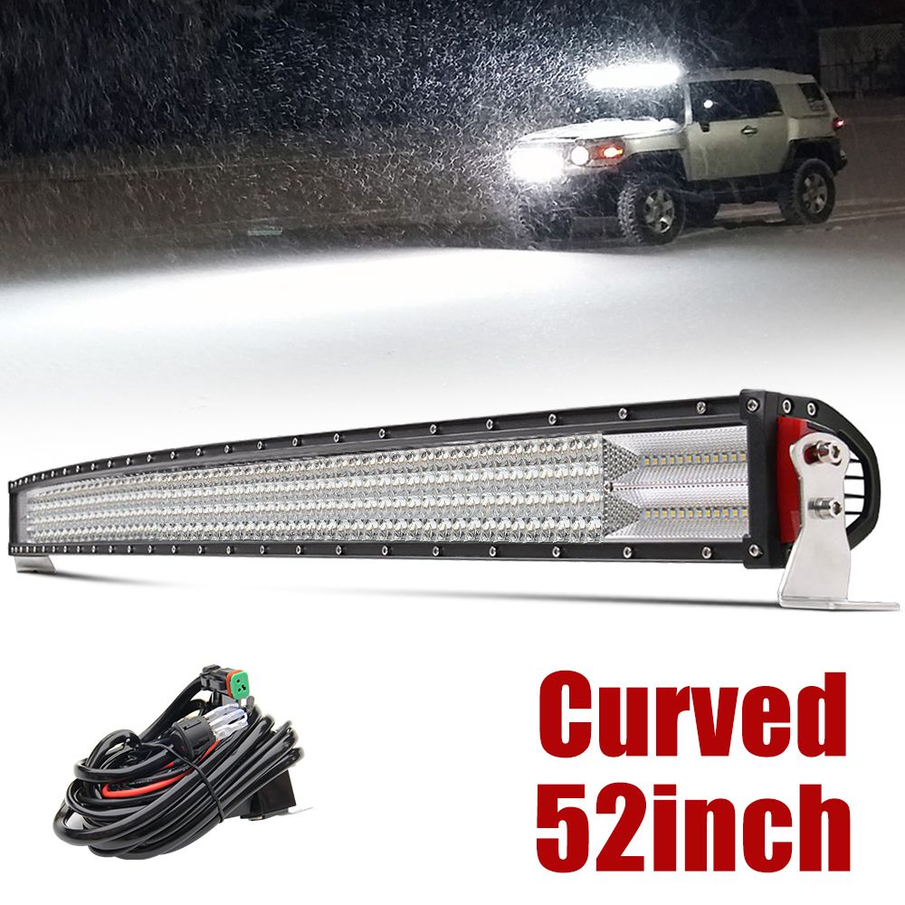 CO LIGHT 12D Led Light Bar Car 52 inch 924W 4-Row Led Bar Offroad Spot Flood Combo Driving Lights for Tractor Truck ATV 4x4 SUV