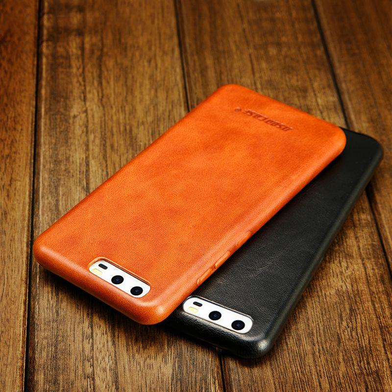 Jisoncase for Huawei P10 case Huawei P10 plus cases cover genuine leather slim hard capas for huawei p10 plus mobile phone funda