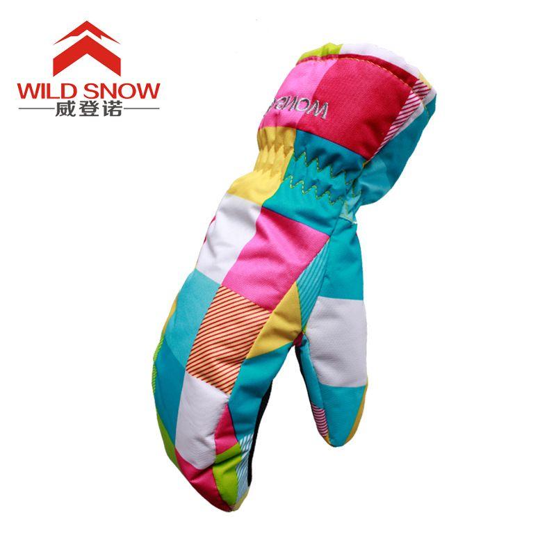 Kinder Winter Ski Snowmobile Handschuhe kinder Mädchen Wasserdichte Ski Snowboard Handschuhe winddicht schönen Jungen und Mädchen