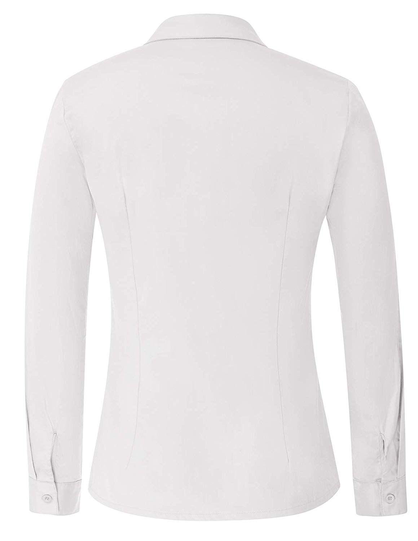 Frauen Baumwolle Casual Formale Büro Langarm Hemd 15 stücke