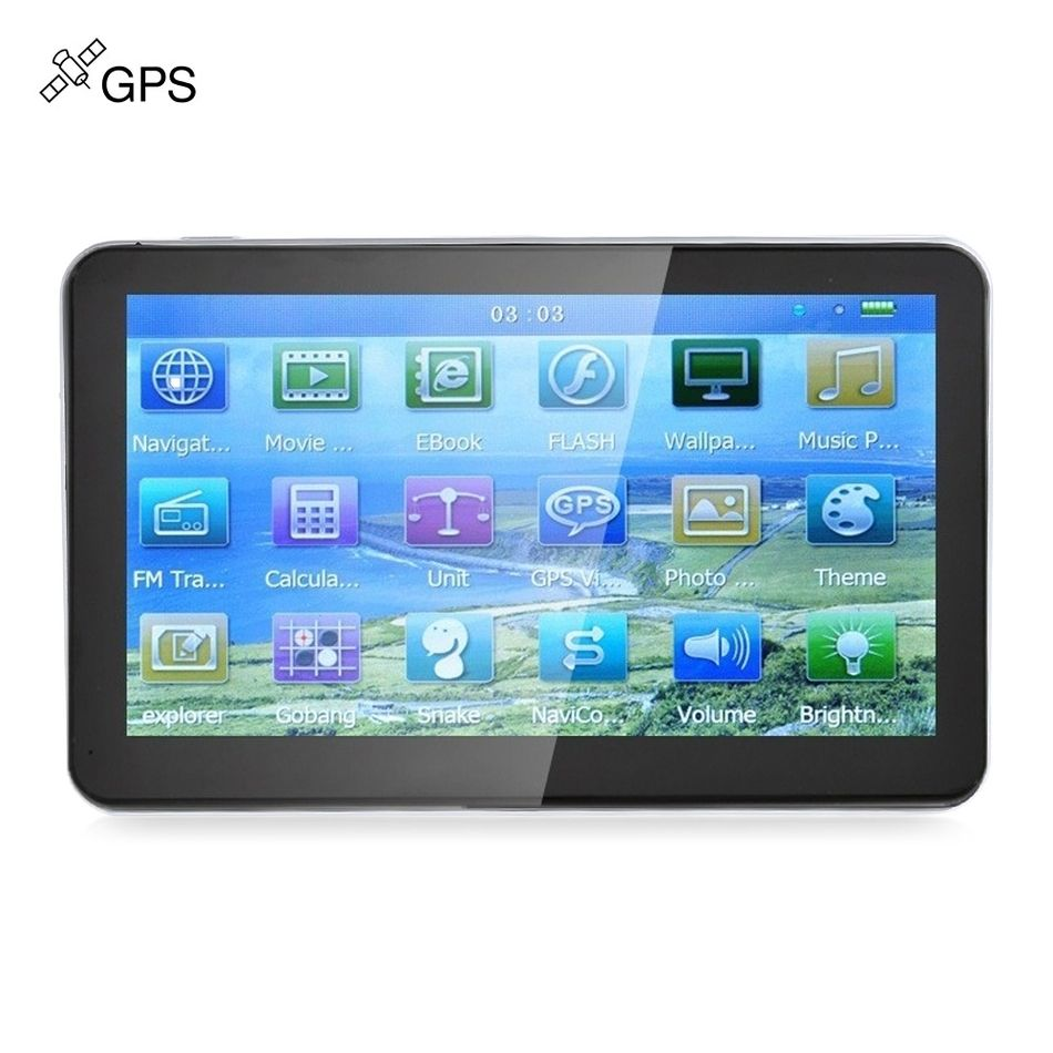 704 7 inch Truck Car GPS Navigation Navigator Win CE Media Tek MT3351C Touch Screen 800 x 480 Multi-media Player with Free Maps