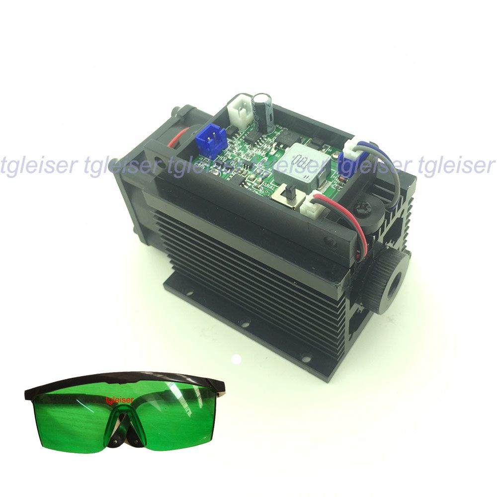 High power 15 watt Lasergravur Modul 445nm 450nm Blaue Laser Kopf 15000 mW DIY Mark auf Metall CNC Cutter maschine