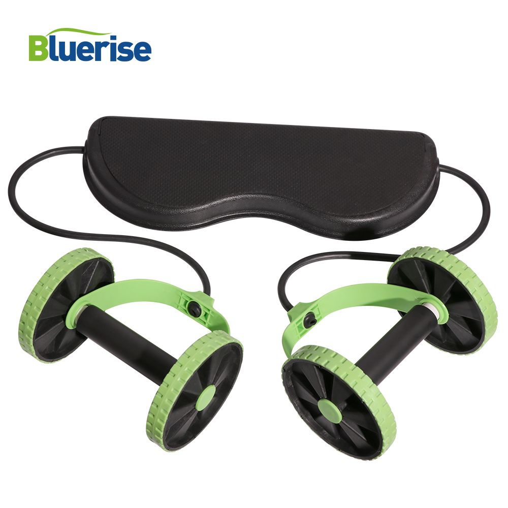 Bluerise Multi-function Fitness Abs Trainer Wheel Abdominal Wheel Trainer Ab Rollers Exercise Machine Gym Fitness Equipment