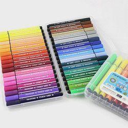Couleur stylo art marqueur dessin ensemble couleurs enfants aquarelle stylo coffre-fort non-toxique lavage à l'eau graffiti santé et de l'environnement
