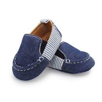 2018 Fashion Leisure Newborn Baby Boy Kids First Walkers Soft Bottom Anti-slip Shoes 0-1 Year