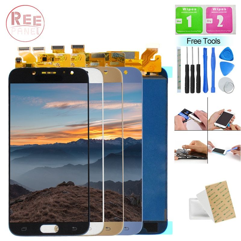 New For Samsung Galaxy J730 J730F J730FM SM-J730F J7 Pro 2017 LCD Display Panel Module + Touch Screen Digitizer Sensor Assembly