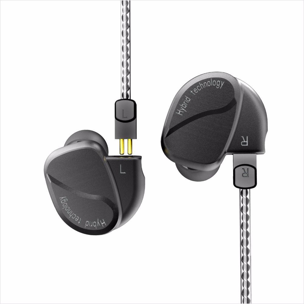 BQEYZ K2 2DD+2BA Hybrid In Ear Earphones HIFI Bass Earbud Running Sport Earplug Headset DJ Monito With 2Pin Replacement Cable