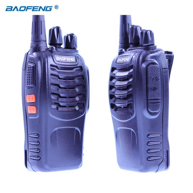 2 PCS Baofeng BF-888S Walkie Talkie Radio Portable Transceiver UHF CB Radios HAM BF 8S Communicator Stereo
