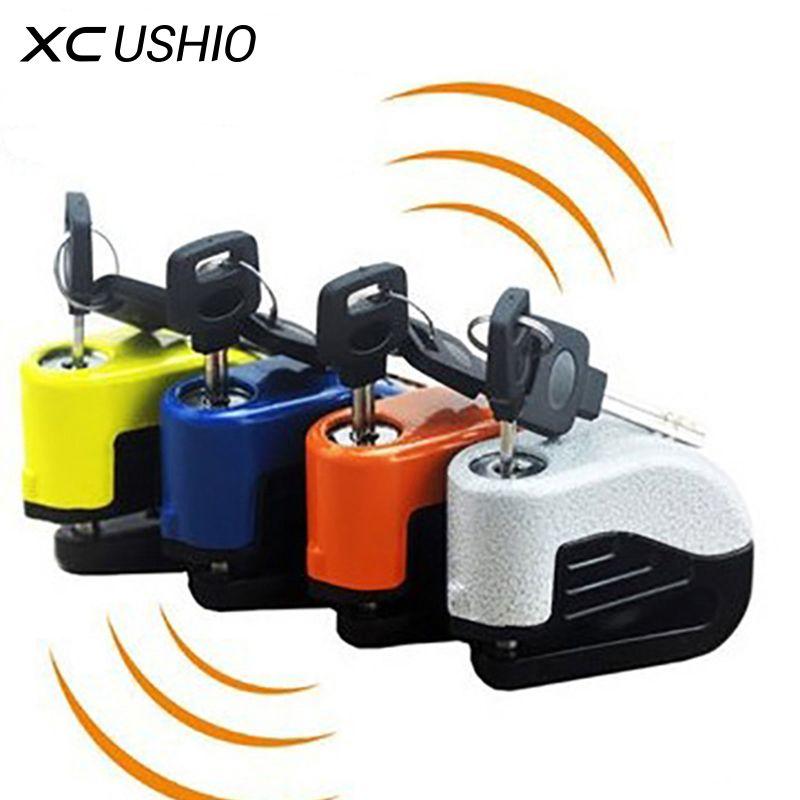 Дисковой замок для мотоцикла / мопеда / скутера, противоугонный замок для мотоцикла, велосипедный замок на дисковой тормоз с сигнализацией