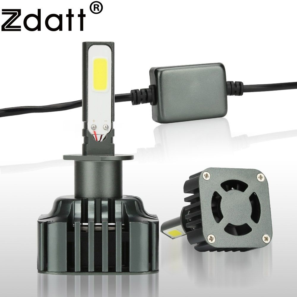 Zdatt 1Pair Super Bright 100W 12000Lm H1 Led Lamp High Power Headlight 12V 24V High Beam Lights Car Led Light Automobiles