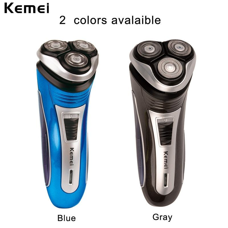 Kemei 100-240V Rechargeable Electric Shaver 3D Triple Floating Blade Heads <font><b>Shaving</b></font> Razors Face Care Men Beard Trimmer Machine 46
