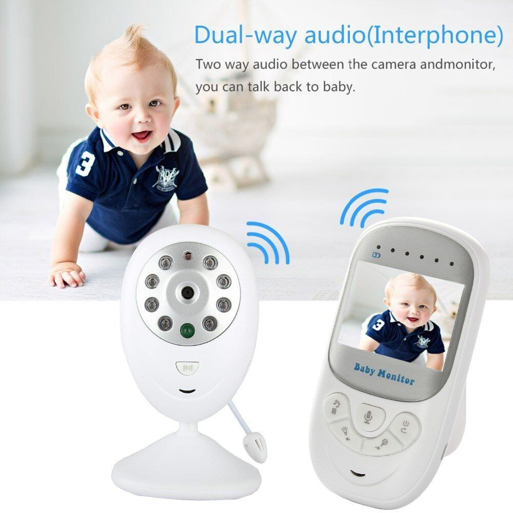 Wireless Baby Monitor 2.4 inch LCD HD Video Security Digital Camera Two-Way Talk Nigh Vision IR Temperature Monitor Crying Alarm