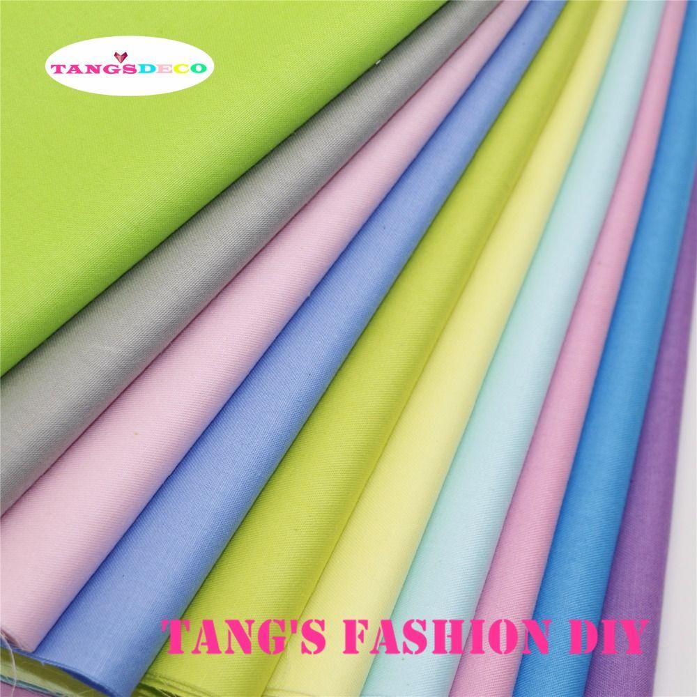 10 pièces --- haute qualité 40x50 cm bricolage coton tissu 10 différentes couleurs ensemble