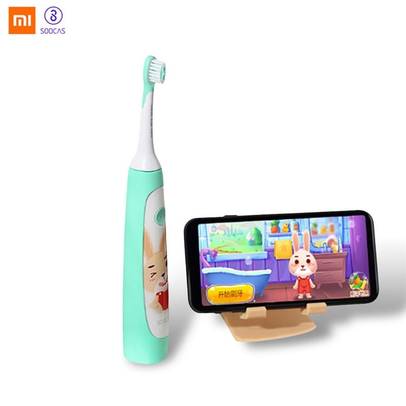 Xiaomi SOOCAS Original Children Electric Toothbrush 2 Brush Modes Wireless USB Rechargeable Waterproof with APP Fun Teching