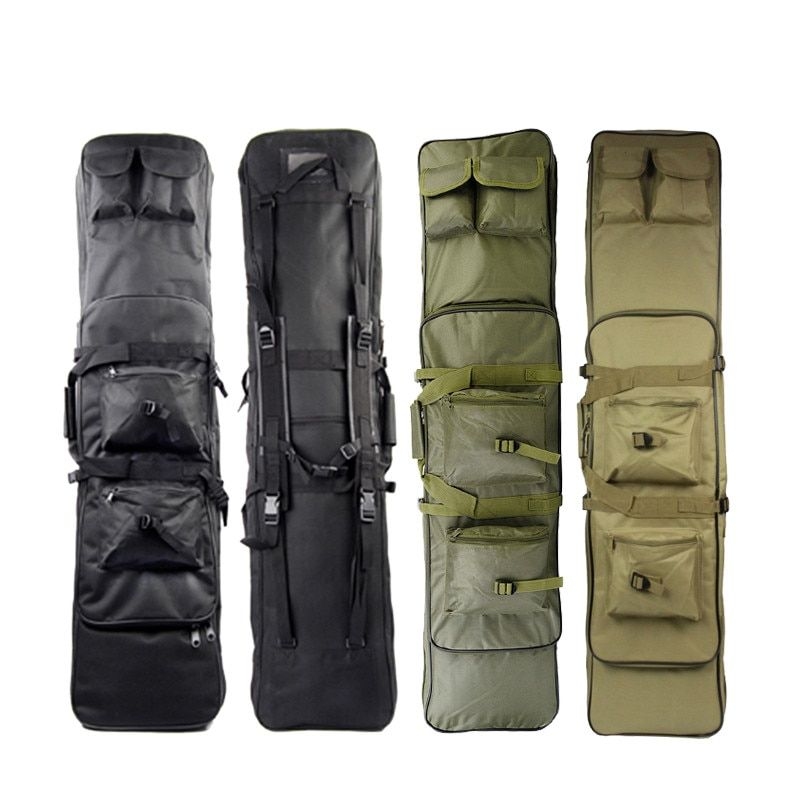 120CM Tactical Rifle Cases Gun Bags with Shoulder Strap Tactical Hunting 120cm Rifle Backpack Rainproof