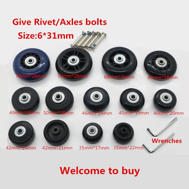 DIY Replacement Luggage Wheels,Replacement Travel trolley suitcases Spinner Wheels for Luggage Repair Parts W7#