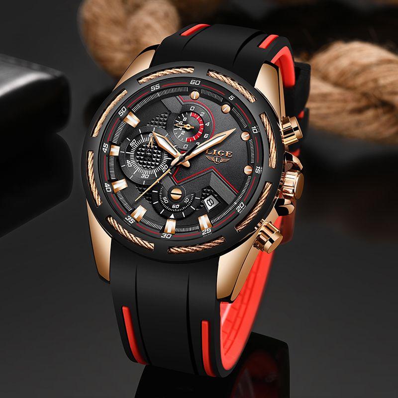LIGE nouveau hommes montres haut de gamme marque hommes Unique montre de sport hommes Quartz Date horloge étanche montre-bracelet Relogio Masculino