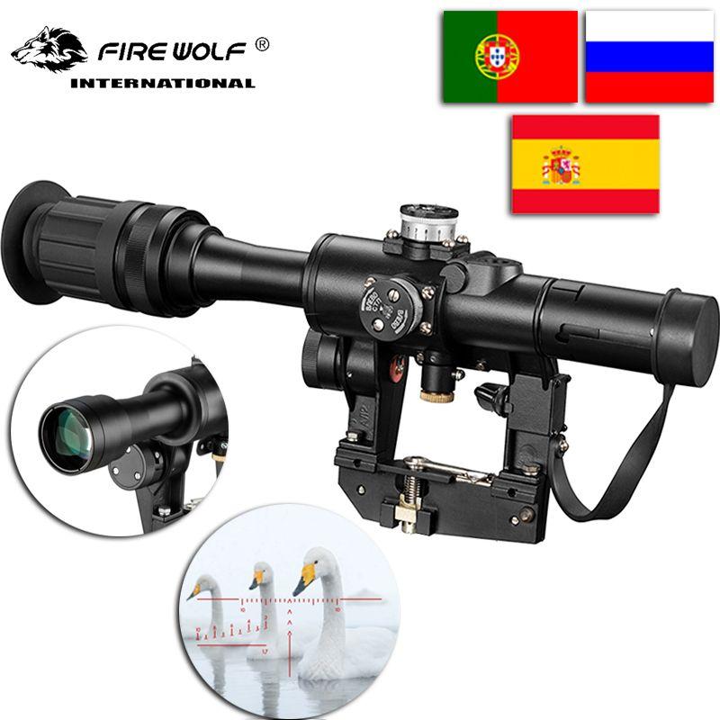 SVD 4x24 Rot Beleuchten Absehen Optische Zielfernrohr Neueste für jagd kollimator anblick Ak47