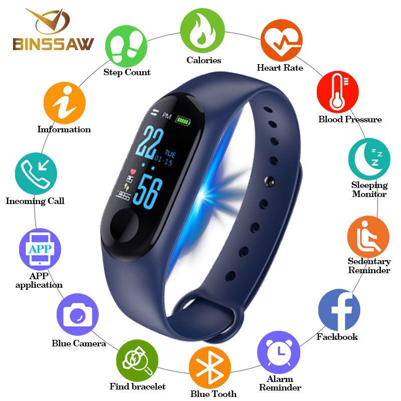 2019 Montre Smart Watch Hommes Femmes numérique poignet montres Bluetooth Horloge Caméra de Fréquence Cardiaque Sang Pression Sommeil Moniteur Podomètre Bande