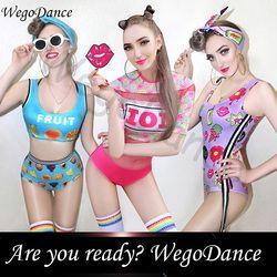 New sexy gogo busana ds kostum DJ klub malam memimpin tari kostum panggung buah pola wanita freeshipping