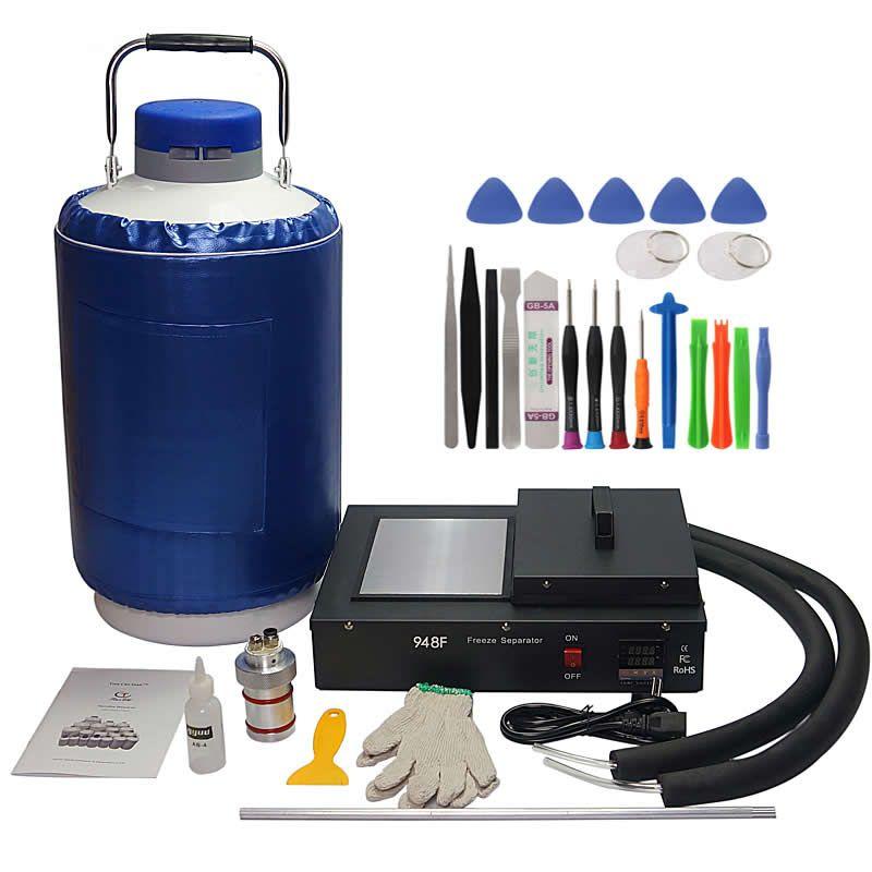 Flüssigkeit stickstoff gefrorene lcd Separator FS06 2 in 1 paket mit 10L flüssigkeit stickstoff tank 220 v/110 v