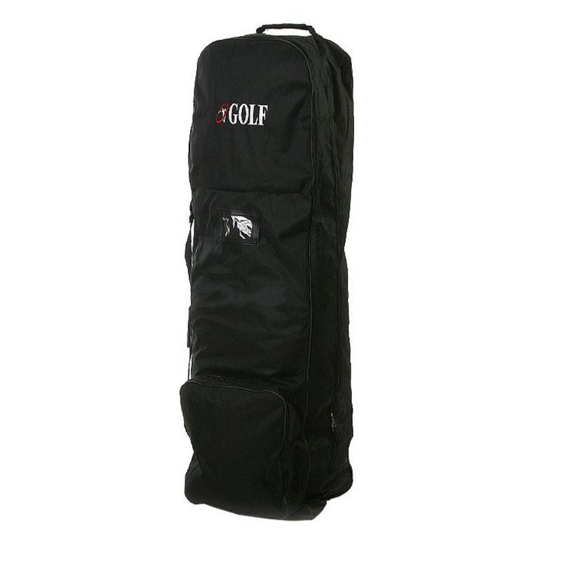 Flight Travel Sport Golf Bag Carrying Coverall Cases Cover Carrier with Wheels Golf Bags