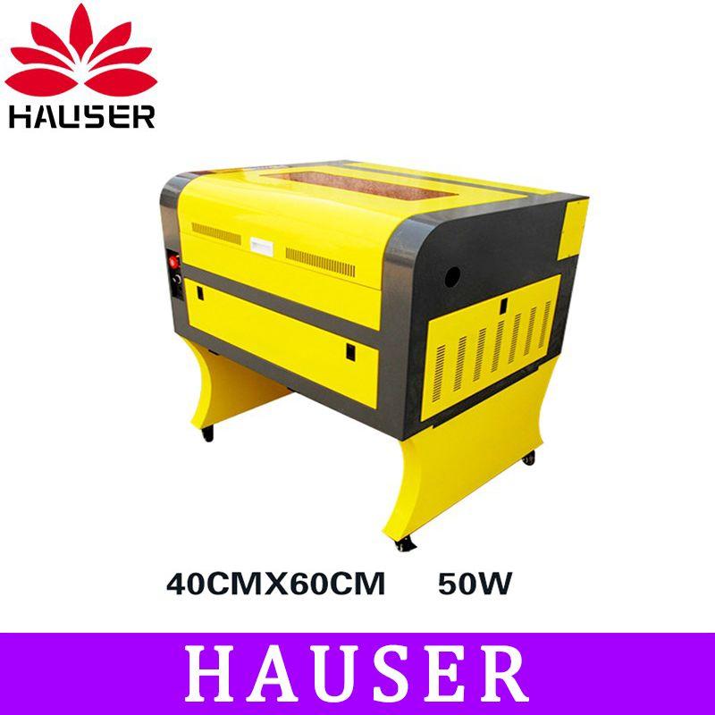 Free Shipping HCZ 50w co2 laser CNC 4060 laser engraving cutter machine laser marking machine mini laser engraver cnc router diy