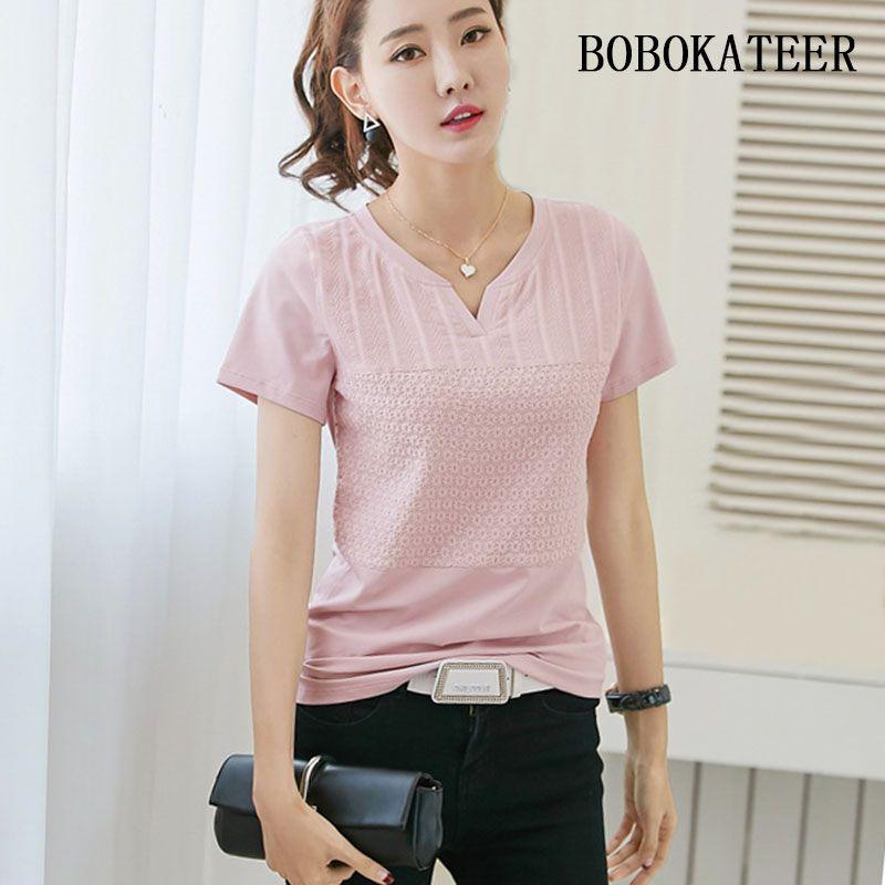 BOBOKATEER coton chemise femmes blouses plus la taille broderie blouse femme ete 2018 à manches courtes d'été tops blusas camisa feminina