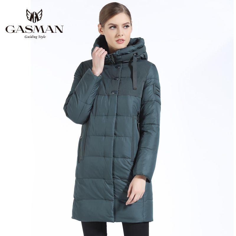 GASMAN 2019 Marke Frauen Winter Jacke Casual Frauen Verdickung Mit Kapuze Unten Parka frauen Winddicht Mantel Bio Unten Jacke für frauen
