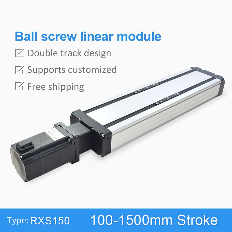 RXS-150 Ball Screw 100~1500mm CNC Linear Module Slide Table Actuator Guide Rail Motion Stage Stepper Servo Motor Robotic Arm Kit