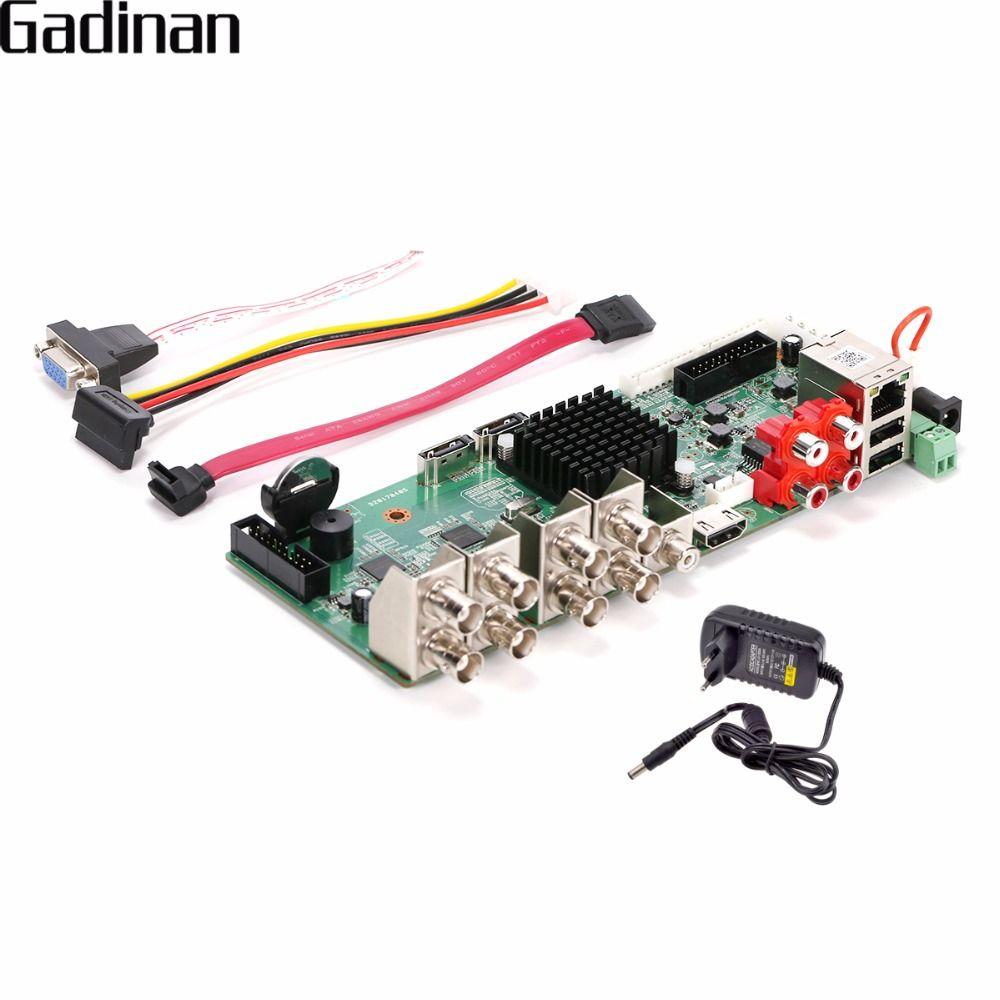 GADINAN Original CCTV H.264 Network Video Recorder 8 Channel AHD 4MP,CVI,TVI ,CVBS,HDMI,5 in 1 Hybrid NVR DVR BORAD with Adapter