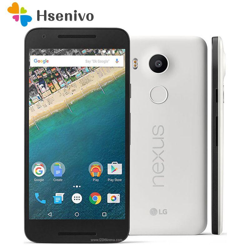 100% Original LG Nexus 5X H791 Unlocked 5.2'' LTE 4G Hexa Core 2GB RAM 16/32GB ROM 13.0 MP Camera 1080P Android 6.0 Smartphone