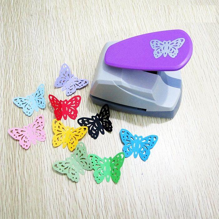 Livraison Gratuite 4.7 cm Papillon 3D Forme Conseil Poinçon Coupe-Papier Pour Carte De Voeux Scrapbooking Machine À La Main Trou Perforateur