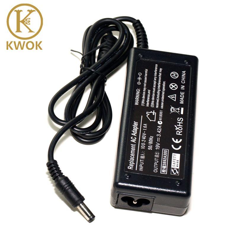 Chargeur pour ordinateur portable universel de haute qualité 19V 3.42A 65W pour Toshiba ordinateur portable dispositif de charge pour Netbook bloc-notes adaptateur secteur